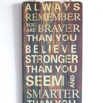 Best Inspirational Wooden Signs Products On Wanelo In Wooden Words Wall Art (View 10 of 20)