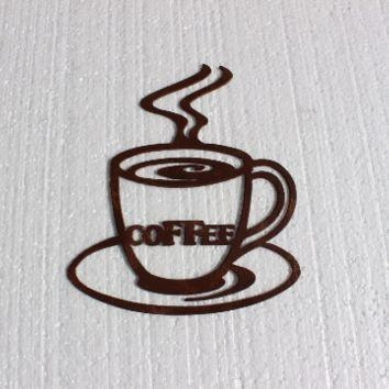 Best Kitchen Metal Wall Art Products On Wanelo Inside Metal Coffee Cup Wall Art (Image 7 of 20)