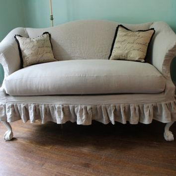 Best Linen Slipcover Products On Wanelo Inside Camel Back Sofa Slipcovers (Image 6 of 20)