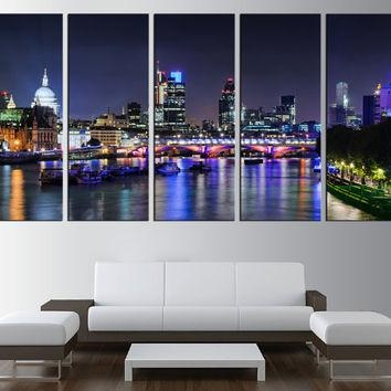 Best London Skyline Wall Art Products On Wanelo Pertaining To Cityscape Canvas Wall Art (Image 6 of 20)