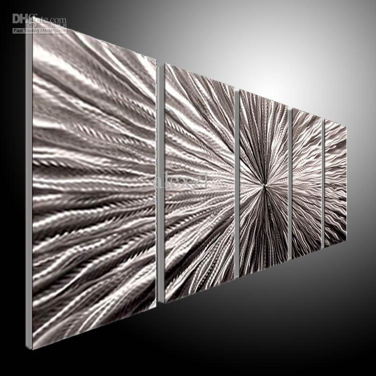 Best Metal Wall Art Abstract Contemporary Sculpture Home Decor With Regard To Cheap Metal Wall Art (View 5 of 20)