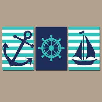 Best Nautical Bathroom Wall Art Products On Wanelo Inside Nautical Canvas Wall Art (Image 11 of 20)