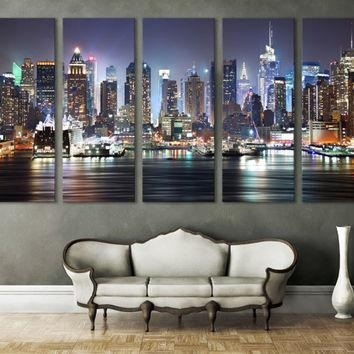 Best New York Skyline Wall Decor Products On Wanelo Throughout New York City Wall Art (Image 1 of 20)