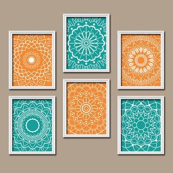 Best Orange Bedroom Set Products On Wanelo Within Orange And Turquoise Wall Art (View 2 of 20)