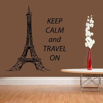 Best Paris Wall Quotes Products On Wanelo Throughout Paris Vinyl Wall Art (Image 5 of 20)
