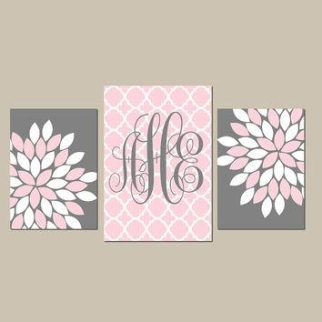 Best Pink And Gray Girls Nursery Sets Products On Wanelo Inside Pink And Grey Wall Art (Image 9 of 20)