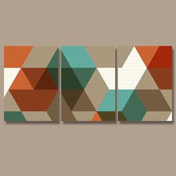 Best Pottery Wall Art Products On Wanelo With Orange And Turquoise Wall Art (Image 12 of 20)