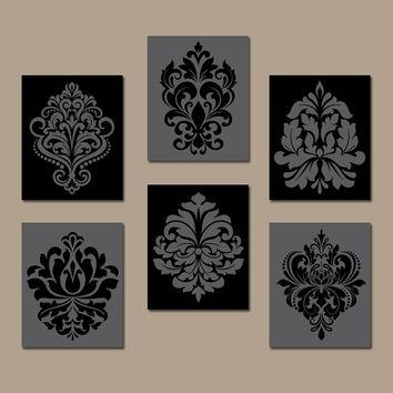 Best Scroll Wall Art Products On Wanelo In Black And White Damask Wall Art (View 7 of 20)