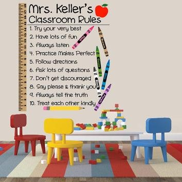Best Teacher Decal Products On Wanelo With Regard To Preschool Classroom Wall Decals (Image 9 of 20)