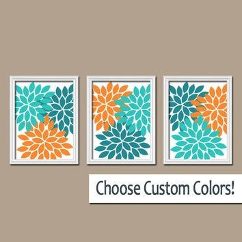 Best Teal Bathroom Wall Art Products On Wanelo With Regard To Orange And Turquoise Wall Art (View 6 of 20)