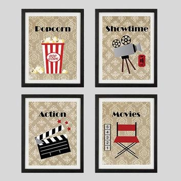 Best Theater Decor Products On Wanelo Pertaining To Home Theater Wall Art (Image 11 of 20)