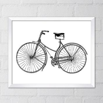Best Vintage Bicycle Wall Decor Products On Wanelo Throughout Bicycle Wall Art Decor (Image 6 of 20)