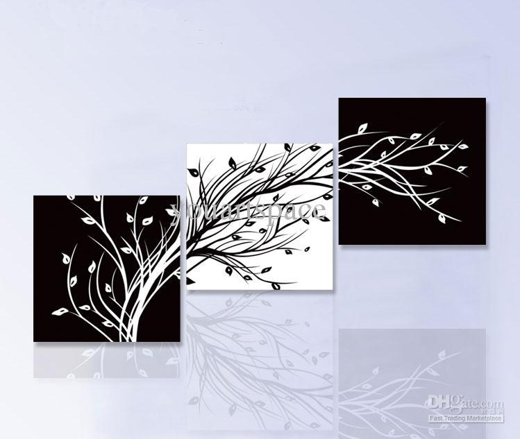 Best Wall Art Modern Abstract Large Cheap Floral Black And White Within Cheap Black And White Wall Art (Image 4 of 20)