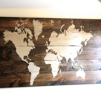 Best Wooden World Map Products On Wanelo Within World Map Wood Wall Art (Image 10 of 20)