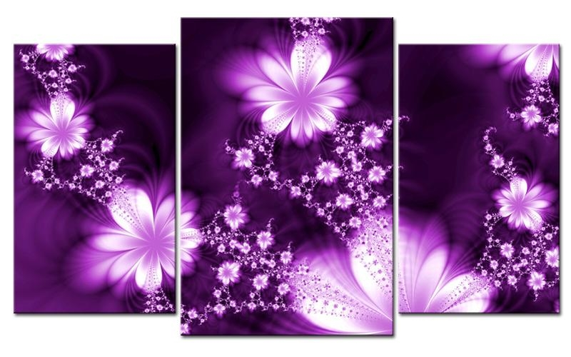 Bhh New Picture Purple Canvas Wall Art – Home Decor Ideas Intended For Purple Canvas Wall Art (Image 6 of 20)