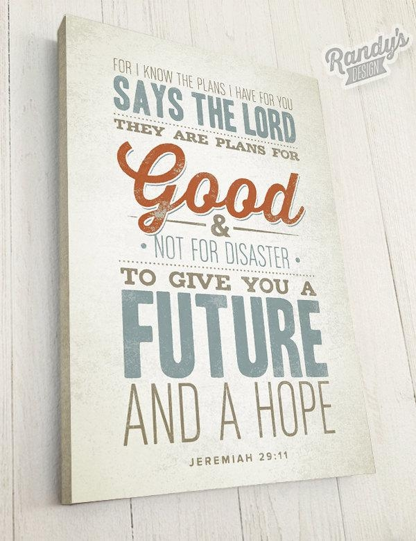 Bible Verse On Canvas Christian Art Rustic Vintage Style Inside Scripture Canvas Wall Art (View 9 of 20)