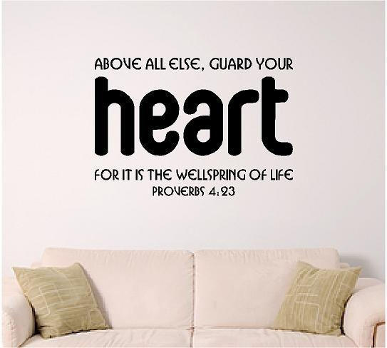 Bible Verse Wall Art Heart For Bible Verses Wall Art (Image 10 of 20)