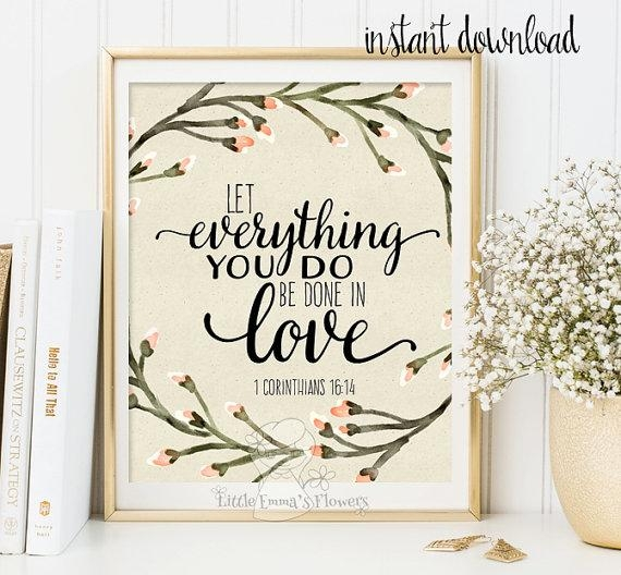 Bible Verse Wall Art Printable Art Scripture Print Christian In Bible Verses Wall Art (Image 11 of 20)