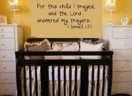 Bible Verse Wall Decals For A Baby Nursery The Perfect Nursery With Nursery Bible Verses Wall Decals (View 9 of 20)