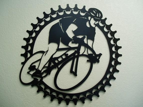 Bicycle Rider Metal Wall Art Inside Cycling Wall Art (Image 8 of 20)