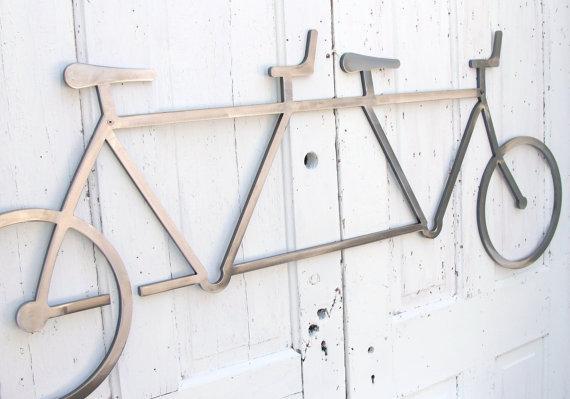Bicycle Wall Art Decor Tandem Bike Wall Hanging Bike Decor For Bicycle Wall Art Decor (Image 10 of 20)