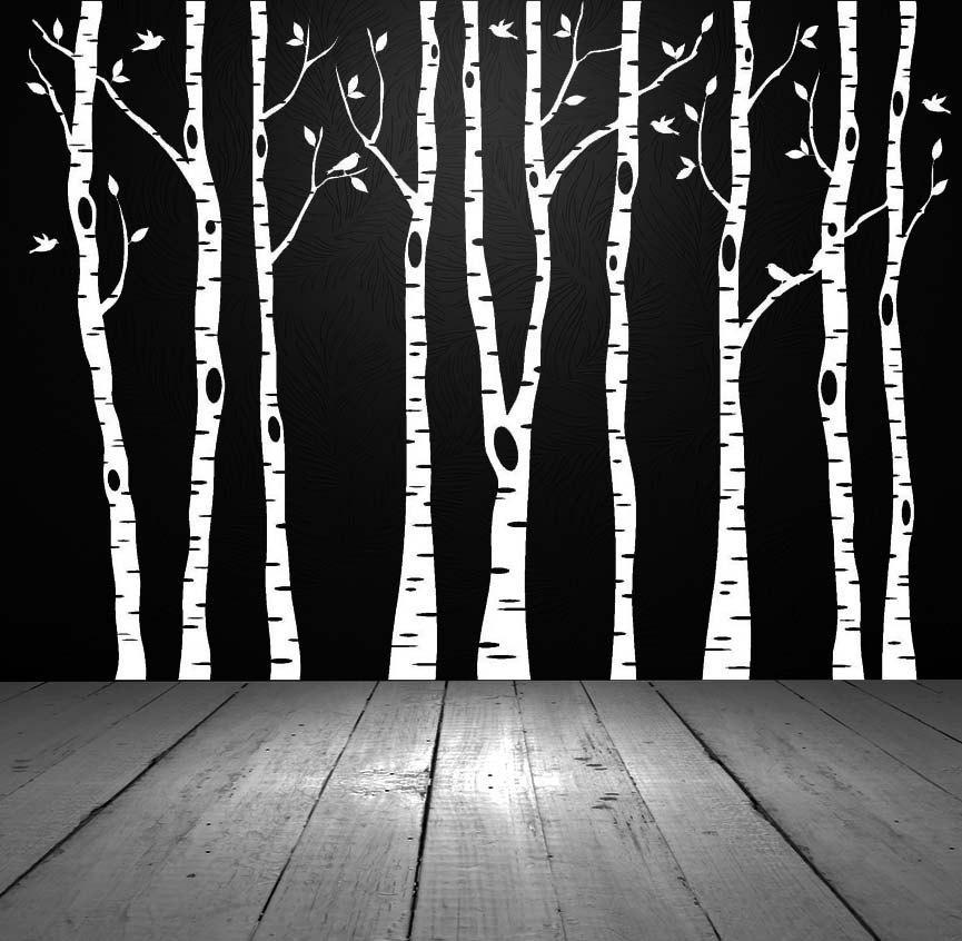 Birch Tree Wall Decal Birch Tree Decal Aspen Tree Decal With Aspen Tree Wall Art (View 4 of 20)