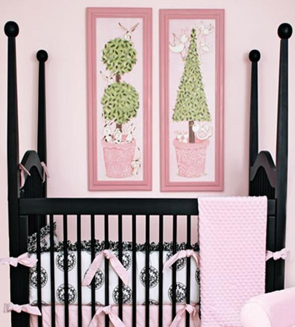 Bird Topiary Wall Art – Pink Frame Within Topiary Wall Art (View 16 of 20)