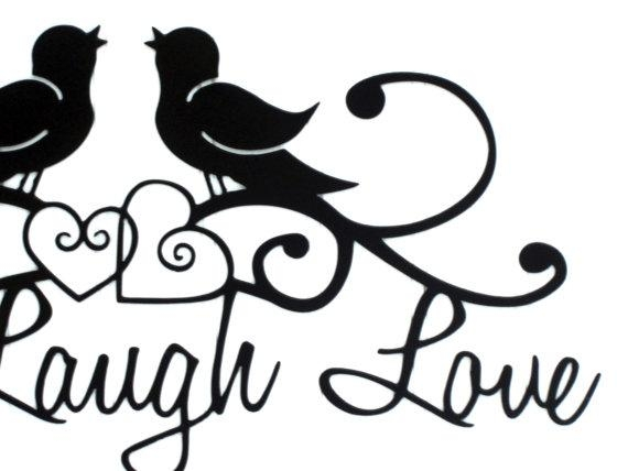 Birds Live Laugh Love Sign Hearts Metal Wall Art Metal In Live Love Laugh Metal Wall Decor (Image 6 of 20)