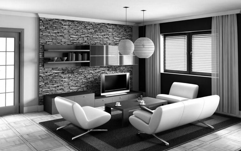 Black And White And Yellow Living Room Brown Ottomans Hanging Within Sofas Black And White Colors (Image 16 of 20)