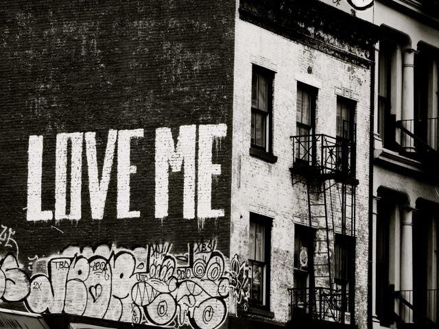 Black And White Graffiti Art Love Me New York Inside New York City Wall Art (Image 2 of 20)