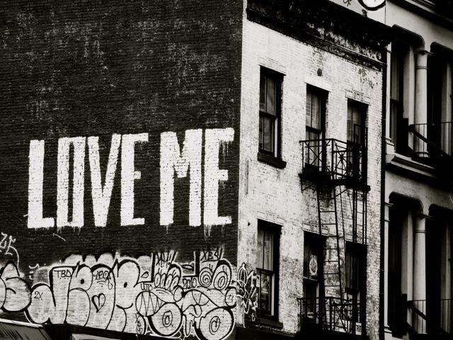 Black And White Graffiti Art Love Me New York Inside New York City Wall Art (Photo 7 of 20)