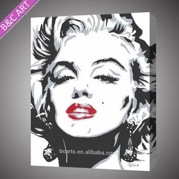 Black And White Marilyn Monroe Pop Art Paintings – Buy Marilyn Inside Marilyn Monroe Black And White Wall Art (Image 7 of 20)