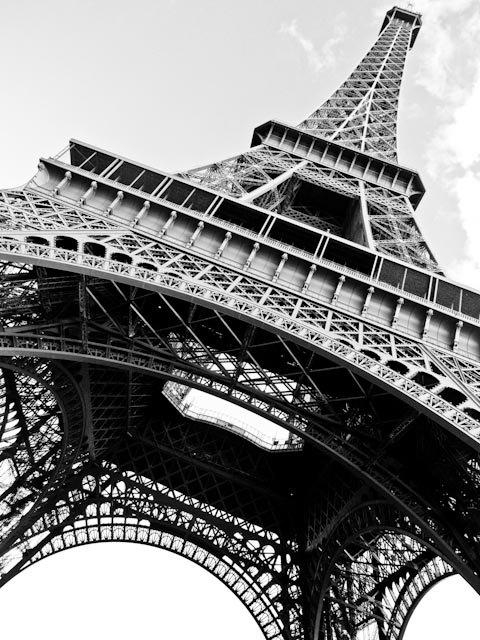 Black And White Photography Eiffel Tower In Paris France For Black And White Paris Wall Art (Image 7 of 20)