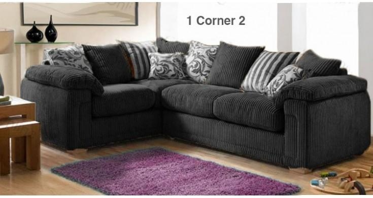 Featured Image of Black Corner Sofas