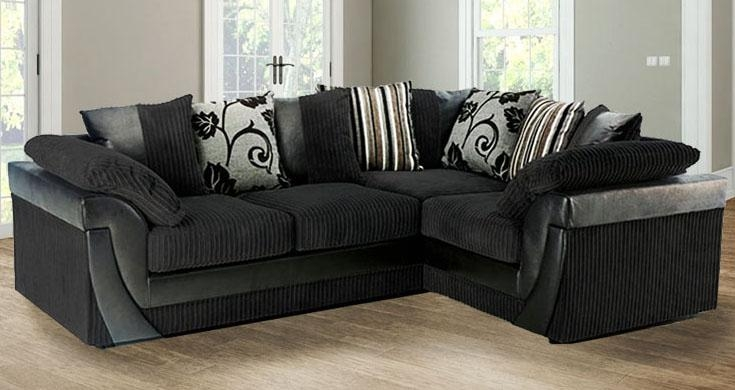 Black Fabric Sofas Uk – Revistapacheco Within Black Corner Sofas (View 16 of 20)