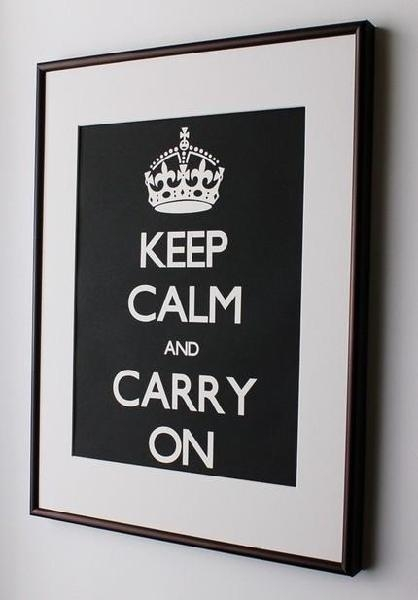 Black Keep Calm And Carry On Wall Decals Intended For Keep Calm And Carry On Wall Art (View 2 of 20)