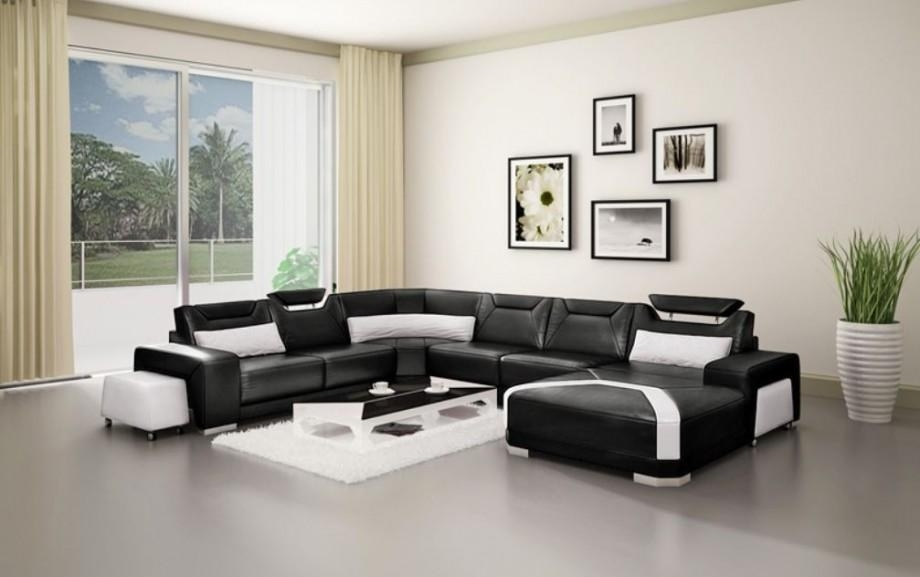 Black Leather Sofa Sets Inspiring Ideas For Living Room – Hgnv In Sofas Black And White Colors (Image 17 of 20)
