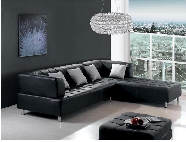 Black Leather Sofa Sets Inspiring Ideas For Living Room – Hgnv Within Small Black Sofas (Image 3 of 20)