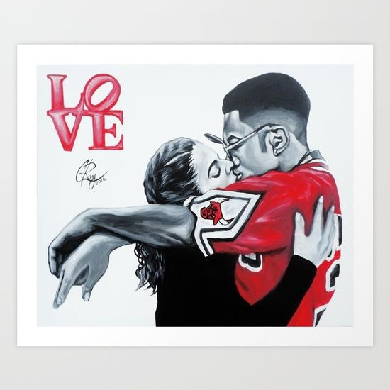 Black Love Dwayne & Whitley Art Printc Ray | Society6 Regarding Black Love Wall Art (View 14 of 20)