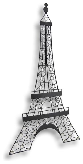 Black Metal Decorative Eiffel Tower Wall Art Hanging – Traditional Within Metal Eiffel Tower Wall Art (Image 6 of 20)