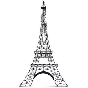 Black Metal Eiffel Tower Wall Decor With Gemstones | Hobby Lobby Inside Metal Eiffel Tower Wall Art (Image 7 of 20)