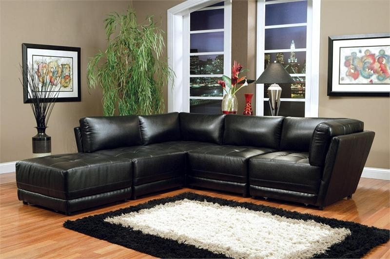 Black Modular Sectional Kayson Collection With Coaster Sectional Sofas (Image 2 of 20)