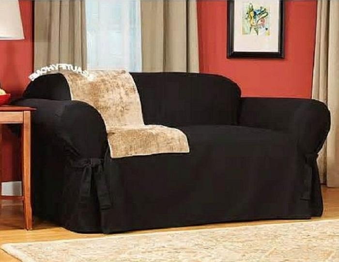 Black Sofa Slipcovers Ideas, Slipcover Sofas, Slipcover For With Black Sofa Slipcovers (Image 5 of 20)
