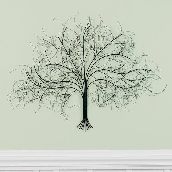 Black Tree Metal Wall Art At Signals | Hh5624 With Metal Wall Art Trees And Branches (Image 11 of 20)
