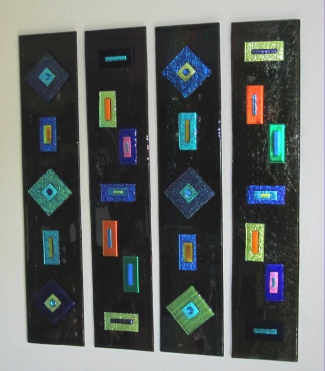 Blank Pertaining To Fused Glass Wall Art Hanging (Image 15 of 20)