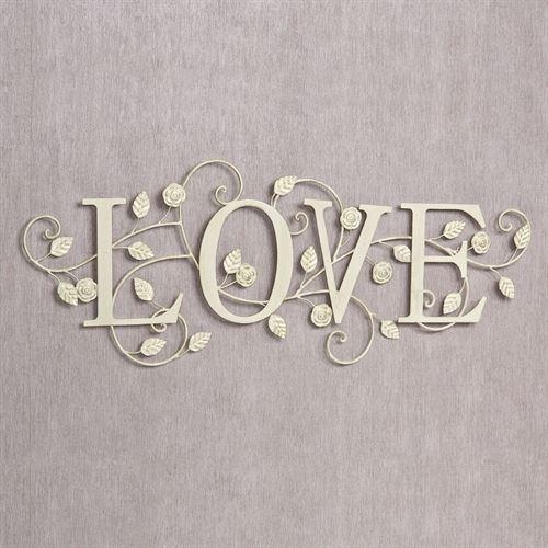 Blooms Of Love Metal Word Wall Art Intended For Metal Word Wall Art (Image 7 of 20)