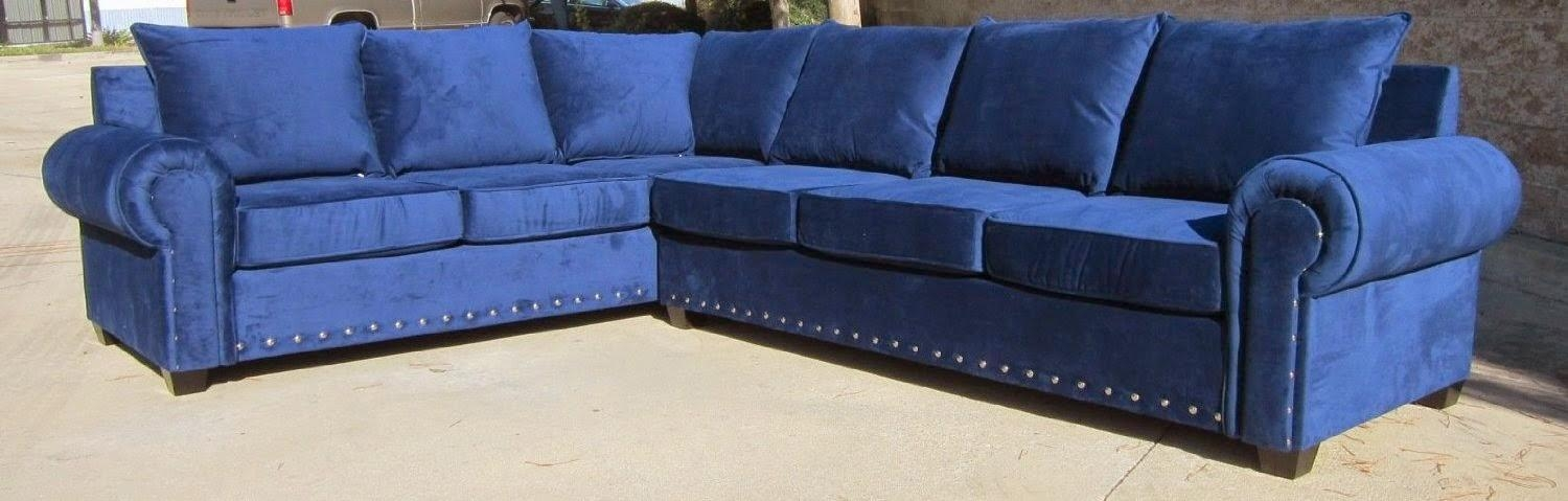 Blue Couch: Blue Sectional Couch For Blue Microfiber Sofas (Image 4 of 20)