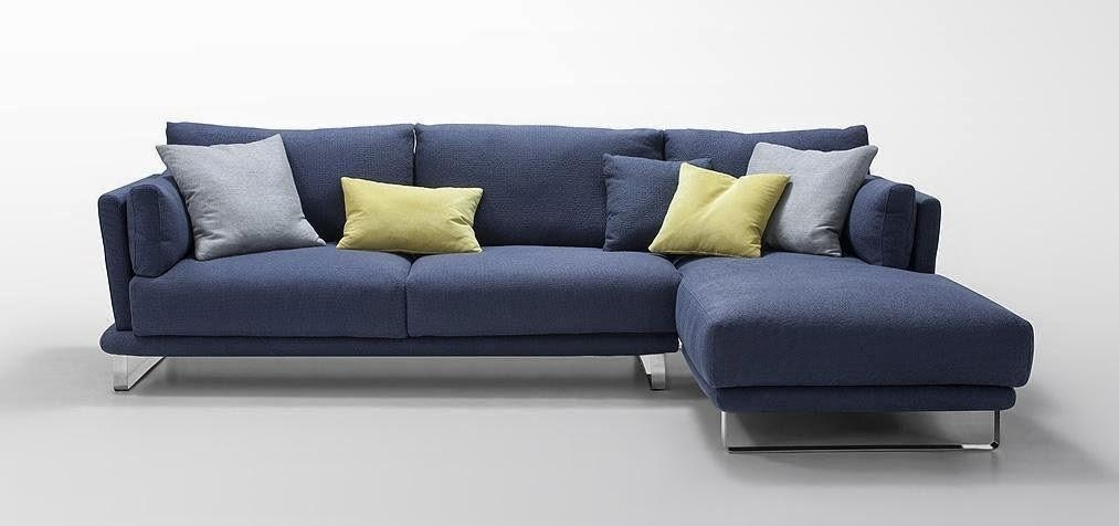 Blue Couch: Dark Blue Couch Regarding Blue Microfiber Sofas (Image 5 of 20)