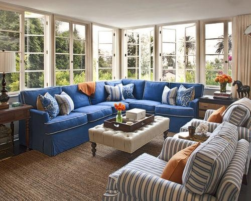 Blue Denim Couch | Houzz Intended For Blue Jean Sofas (Image 15 of 20)