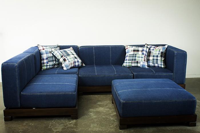 20 photos blue denim sofas sofa ideas With blue denim sofa bed